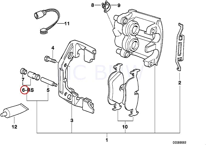 Pistons BRKP331 for BMW 7 SERIES E38 94-01 FRONT Brake Caliper Repair Kit