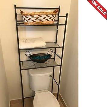 Amazon.com: 3-Shelf Bathroom Space Saver Over The Toilet Storage ...