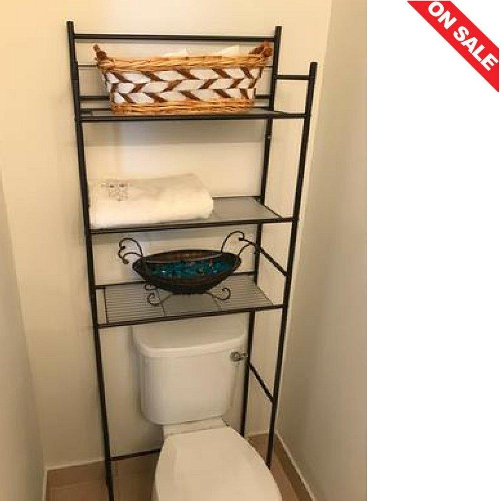3-Shelf Bathroom Space Saver Over The Toilet Storage Cabinet Bathroom Practical Indoor Storage Shelves Bathroom Furniture & Ebook by Easy2Find.