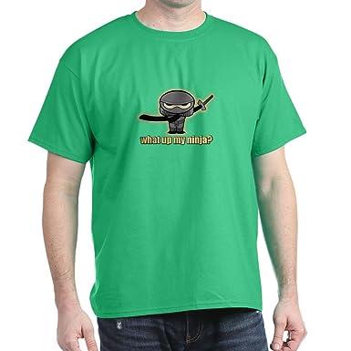 Amazon.com: CafePress What Up My Ninja? Dark T Shirt 100 ...