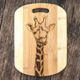 Giraffe Cutting Board 14''x9.5''x.5'' Bamboo