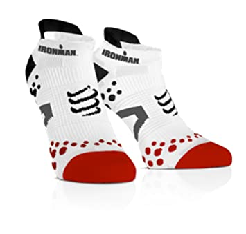 Compressport Calcetines Ironman Pro Racing Socks V2.1 Run Low Blancos - T2: Amazon.es: Deportes y aire libre