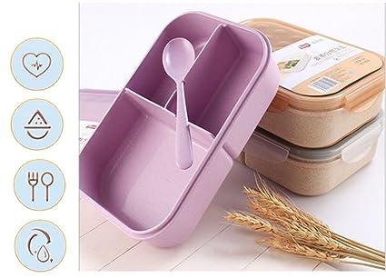 Pot Fiambreras, horno de microondas para calentar la caja de trigo Caja de almuerzo limpiadora