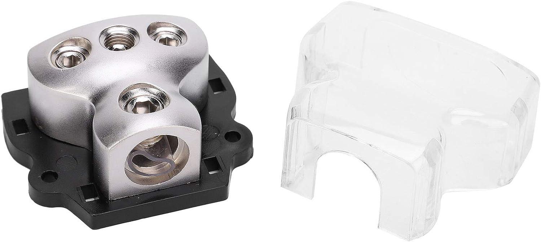 Support de fusible en alliage de Zinc Distribution alimentation Audio de voiture//bloc de r/épartiteur de c/âble de terre 1 en 3 blocs de connexion de distribution