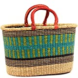Fair Trade Ghana Bolga African Oval Shopper 18.5-21.5'' Across, 67640