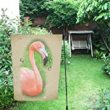 "JC-Dress Garden Flag Gorgeous Pink Flamingo Outdoor Flag Deocration 12""x18"""