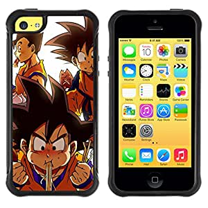 BullDog Case@ Cute Dragon Ball Cartoon Rugged Hybrid Armor Slim Protection Case Cover Shell For iphone 5C CASE Cover ,iphone 5C case,iphone5C cover ,Cases for iphone 5C
