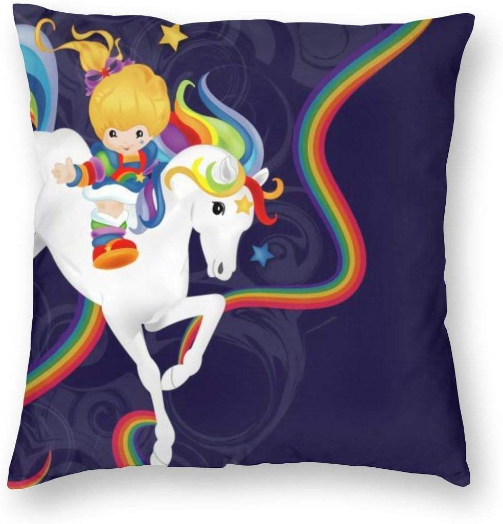 antcreptson Rainbow Brite and Starlite Memories Throw Pillow Decorative Pillow Case Home Decor Square 18x18 Inches Pillowcase