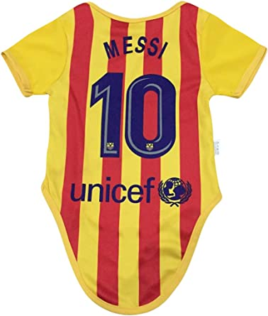 Amazon Com Athletics Rhinox Lionel Messi 10 Soccer Jersey Baby Infant Toddler Onesies Rompers Pack Of 2 Home Away Jersey Design Bundle Sports Outdoors