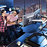 EUREKA-ERGONOMIC-Height-Adjustable-Sit-Stand-Desktop-and-Gaming-Workstation-46-Inch-Wide-Fits-Height-Up-To-6-Ft-5-Inches-No-Assembly-Required-SGS-Top-Rated-Black