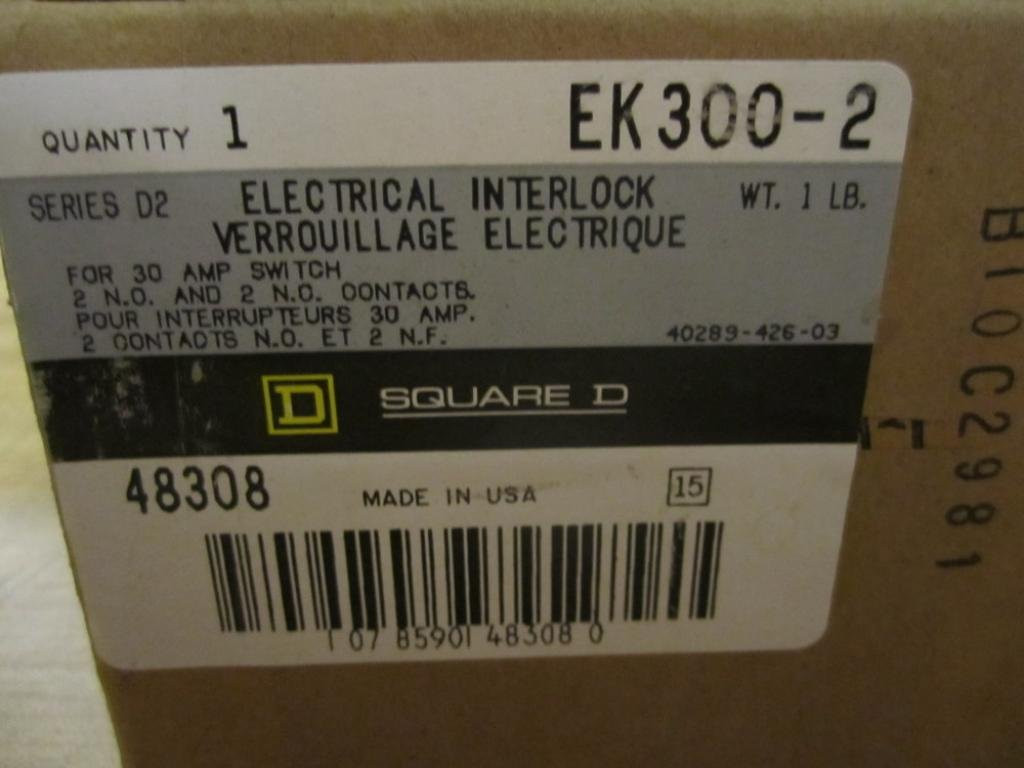 NEW ! Square D EK-300-1 Electrical Interlock 30 Amp