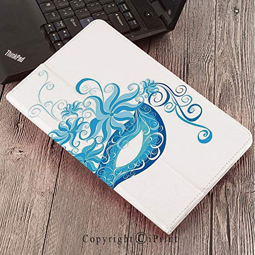 Case for Samsung Galaxy Tab S3 9.7 T820 T825 Slim Folding Stand Cover PU Case, Masquerade,Venetian Style Mask Majestic Impersonating Enjoying Halloween Night Theme,Blue and Sky Blue -