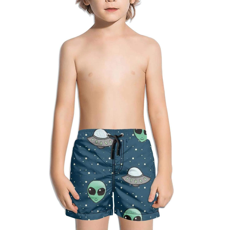 Lenard Hughes Boys Quick Dry Beach Shorts Pockets alines UFO Swim Trunks Summer