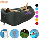 Inflatable Lounger with Air Valve, Fast Inflate by Air Pump or Wind Air Bag Lounger With Mesh, Nylon Air Lounger for Beach,Camping,Pool,Float on Water, Stay Inflated 5 to 8 Hours