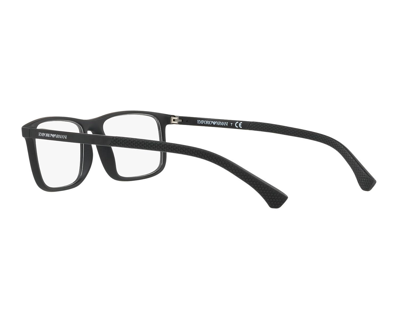 2332f87bc81 Emporio Armani frame (EA-3125 5063) Plastic Matt Black - Black at Amazon  Men s Clothing store