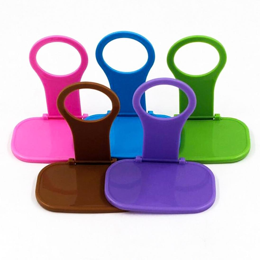 Baomabao ☎2 Foldable Plastic Phone Charger Brackets☎ Cell Phone Wall Charger Hanger Cradle Universal