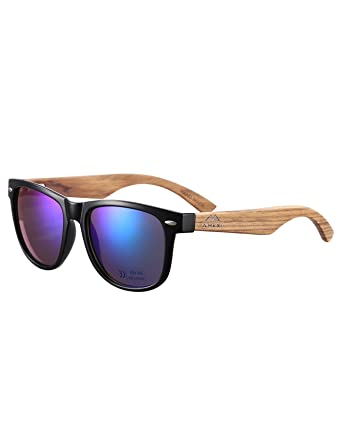 auf Füßen Aufnahmen von verkauf usa online Rabattgutschein Amexi Bambus-Sonnenbrille mit Brillen-Etui, Schraubenzieher und Tasche -  polarisiert - UV400 - verschiede Farben u verspiegelte Gläser, mit Bügeln  aus ...