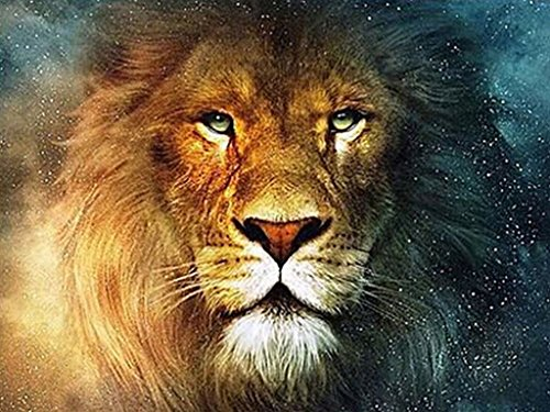 TSING DIY Crystals Paint Kit 5D Diamond Painting By Number Kits,The Lion-15''W*20''L (Diamond Paint compare prices)