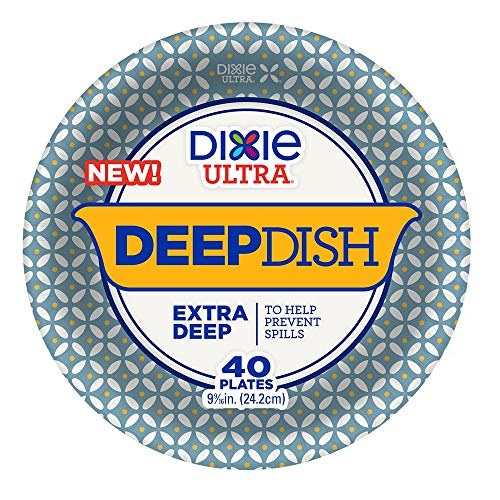 - Dixie Ultra Deep Dish Disposable Paper Plates, 9