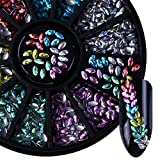 NICOLE DIARY 3D holo Crystal Horse Eye marquise Rhinestone Nail Art DIY Tips Design Decoration 6 Colors