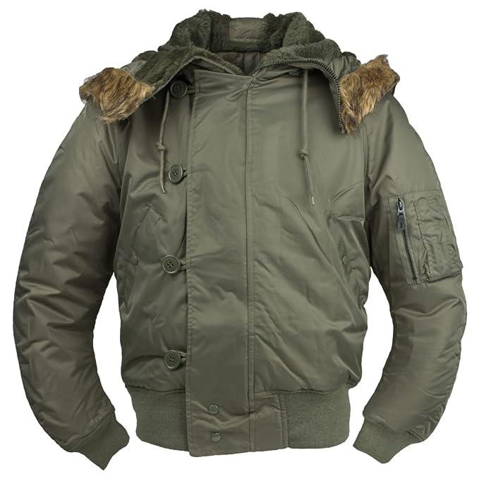 CamoOutdoor N2B ECW ejército Snorkel Parka chaqueta para hombre de vuelo verde oliva Tamaño XXL: Amazon.es: Ropa y accesorios
