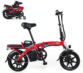 Amazon.com: Folding Electric Bike for Adults Commute Ebike