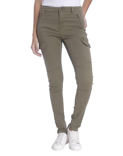 Vero Moda Vmseven Nw Cargo Zip Pants Ga, Pantalones para Mujer