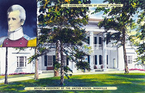 Nashville, Tennessee - Exterior View of the Hermitage, President Andrew Jackson's Home (12x18 SIGNED Print Master Art Print w/Certificate of Authenticity - Wall Decor Travel Poster)