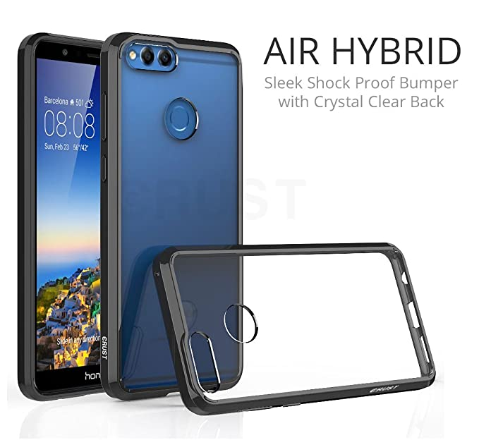 huge discount 6c799 96d4b Amazon.com: Honor 7X Cover, Crust Air Hybrid Clear Back Cover For ...