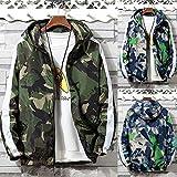 iYYVV Mens Full Zip Camouflage Long Sleeve Pocket