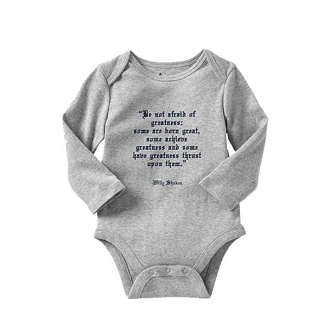 98f254fc1 Amazon.com  Born Great William Shakespeare Long Sleeve Baby Bodysuit ...