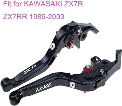 Folding Clutch Brake Lever Fit For Kawasaki ZX7R ZX7RR 1989-2003 91 92 93 Black