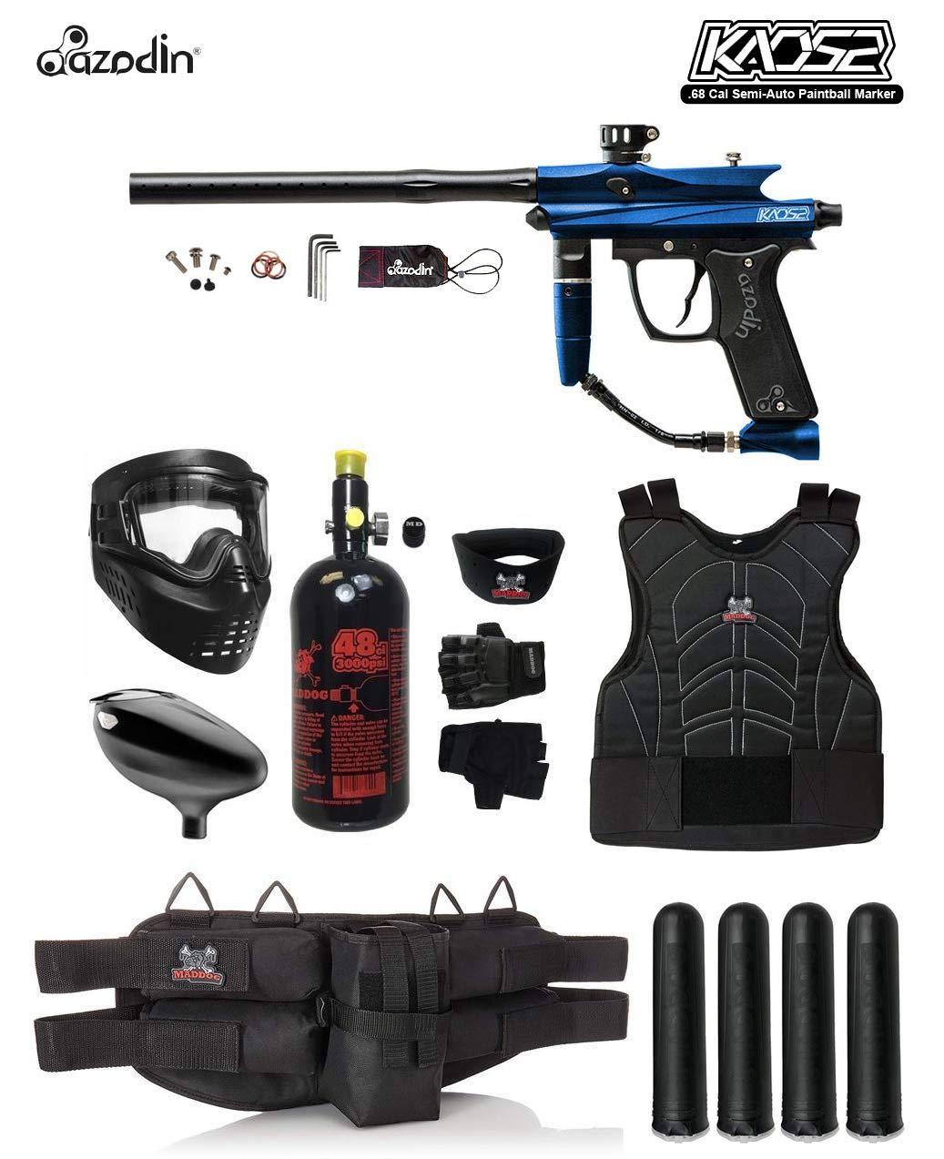 MAddog Azodin KAOS 2 Starter Protective HPA Paintball Gun Package - Blue/Black