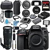 Nikon D7500 DSLR Camera (Body Only) 1581 AF-S 200-500mm f/5.6E ED VR Lens 20058 + 95mm UV Filter + 256GB SDXC Card + Card Reader + Professional 160 LED Video Light Studio Series Bundle