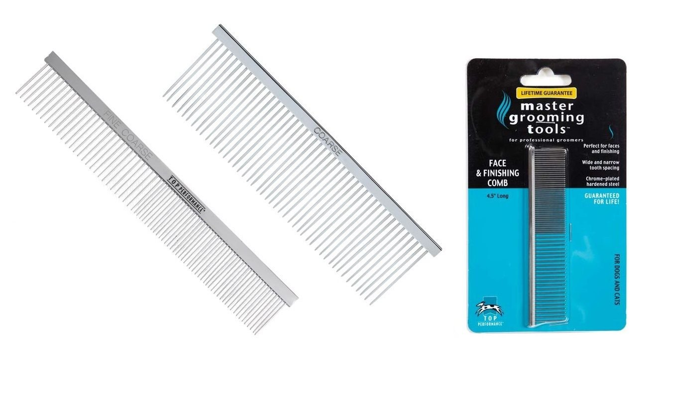Chrome Plated Steel Greyhound Combs Professional Dog Grooming Comb - Choose Size(All 3 Stainless Combs)