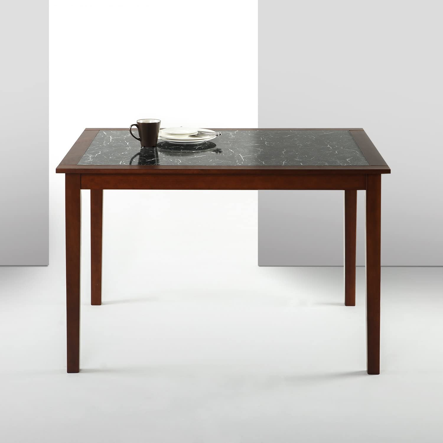 Zinus Faux Marble and Wood Dining Table Table Only