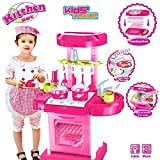 Luxury Battery Operated Super Kitchen Set with Light , Sound & an Attechi Carry Case