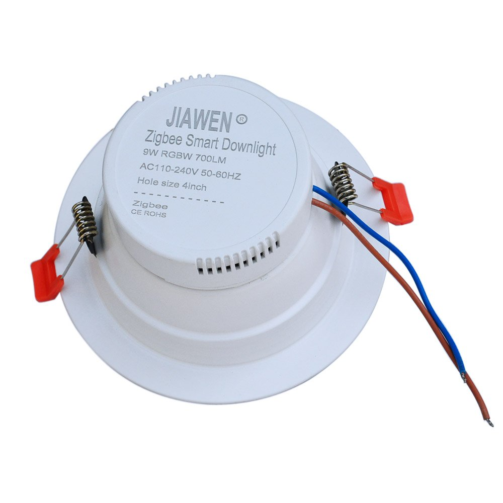Jiawen Smart Home Rgbw 9w Led Downlight App Control Work With Zigbee Wiring Circuit Downlights Bridge
