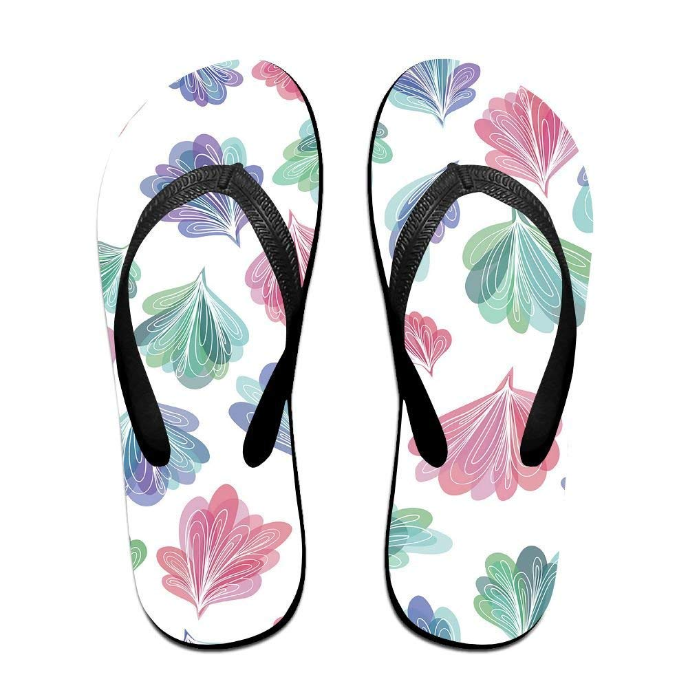 Kelysun Summer Beach Sanls Peacock Tail Comfortable Flip-Flop Multiple Sizes Unisex