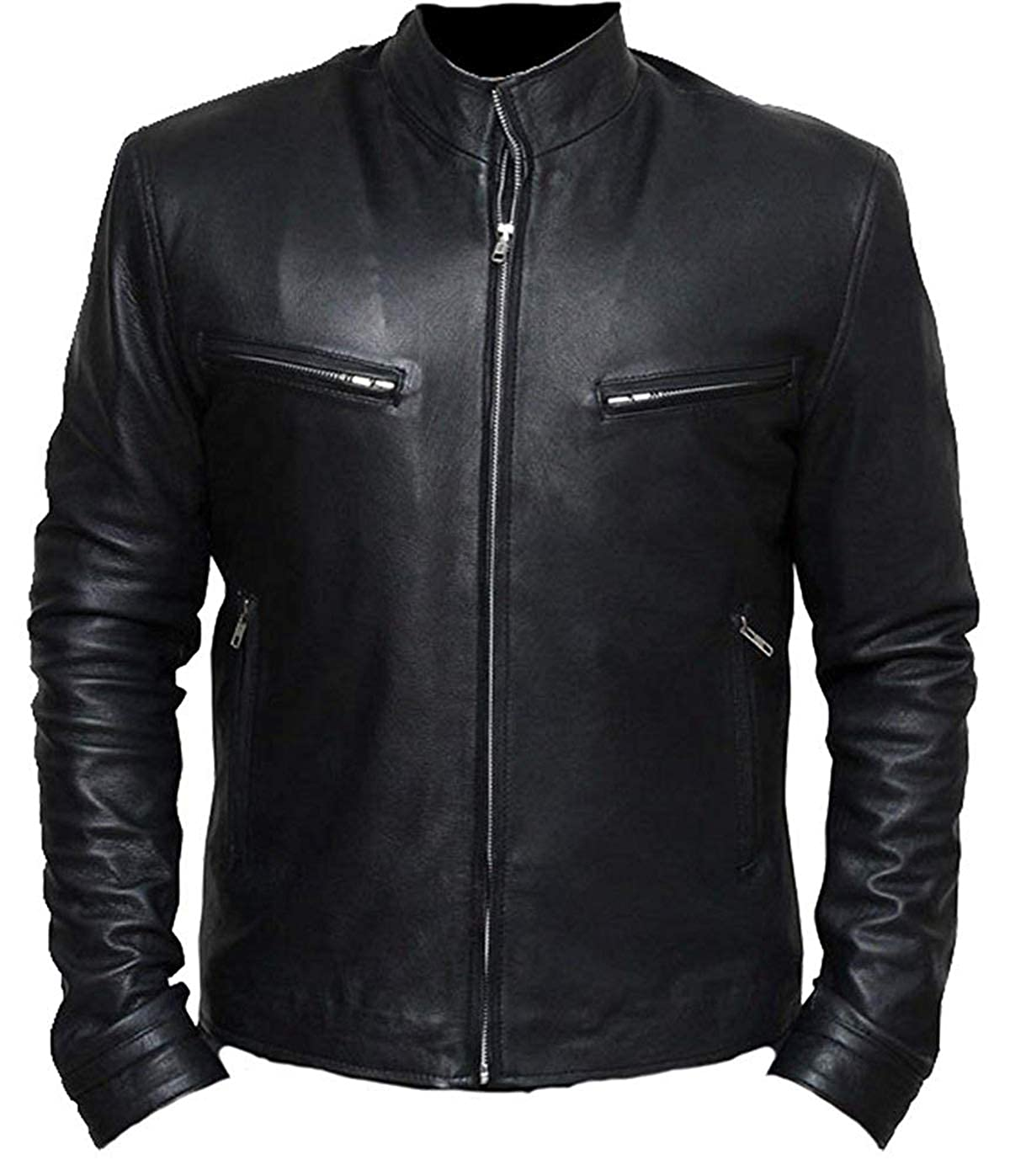 Fast and Furious 6 Vin Diesel Black Real Leather Jacket at