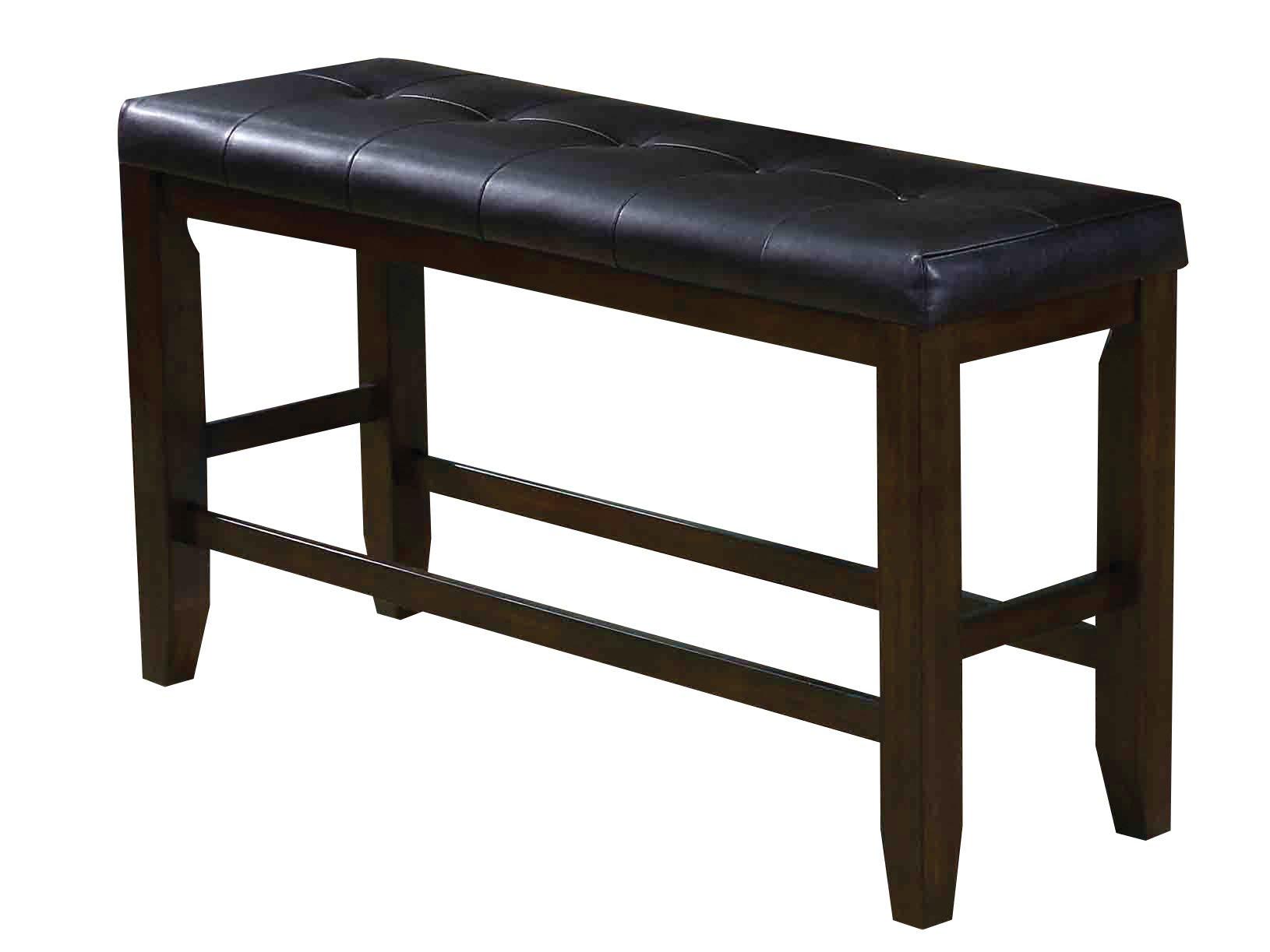 Acme Furniture AC-74634 Bench, Black PU & Espresso by Acme Furniture