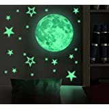 Amazon Price History for:Marsway Removable 30cm Moon Stars Glow in the Dark Sticker Night Luminous Kids Room Wall Decal Stickers