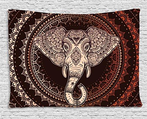 Tapestry Ambesonne Oriental Elephant Embellished