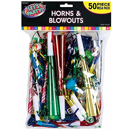 Mega Pack Horns and Blowouts 50ct [Toy] by Amscan