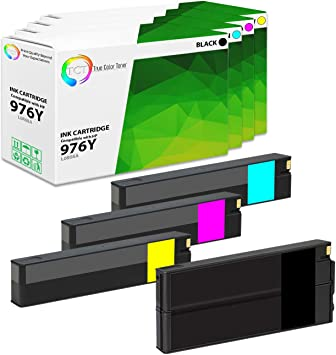Rose Office Supply Compatible Ink Cartridge Replacement for HP L0R07A 577z 976Y Extra High Yield Yellow Works with : PageWide Pro 552dw 577dw