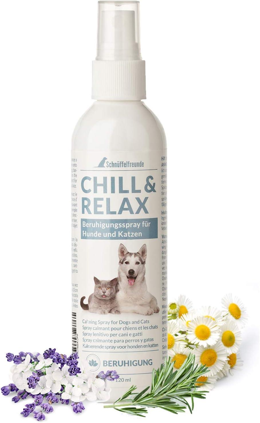 Schnüffelfreunde Chill & Relax I Spray calmante para Perros y Gatos I Ayuda al Perro o Gato: Amazon.es: Productos para mascotas