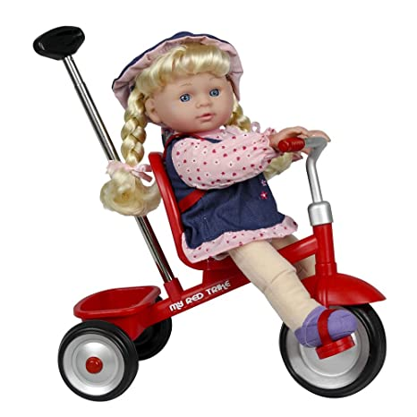 Amazon Com Kid Concepts 12 Baby Doll Game Toy Figure With Trike