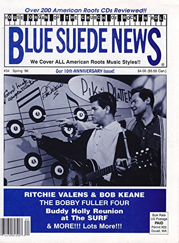 - Blue Suede News #34 Spring 1996 Ritchie Valens and Bob Keane Cover