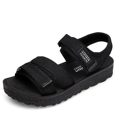 MeiMei Sandales Femme Flat-Bottomed Sauvages Loisirs Chaussures De Plage D'Épaisseur rxcGuq