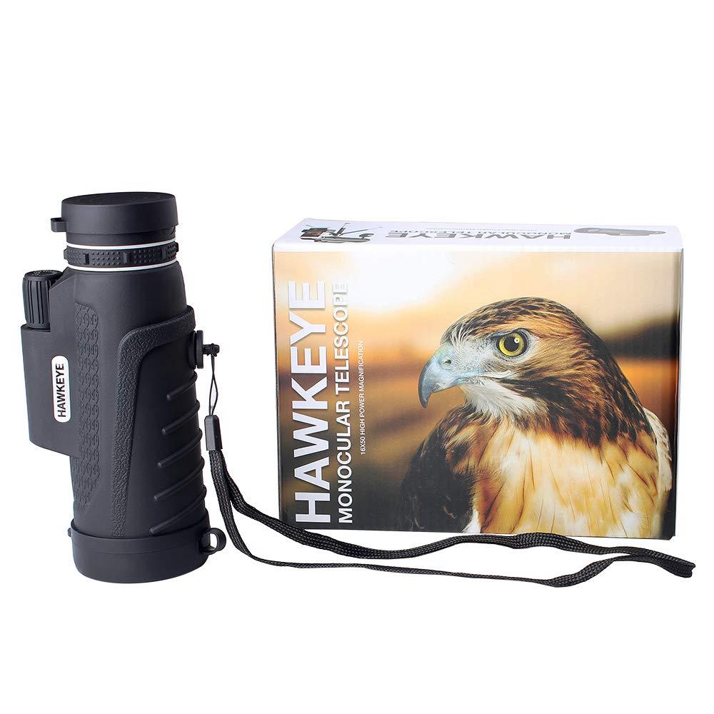 Monocular Telescope - Hunting/Camping/Travel/Water/Spotting/Fishing/Outdoor/Hiking - Smartphone Adapter Camera - Tripod Essential Phone Scope - Great Light/Night - Binoculars Spotting Scope